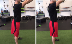 Visual example of Lower Crossed Syndrome compared with a neutral posture. Characterized by inhibited/weak abdominals and glutes as well as facilitated/tight hip flexors and quads.